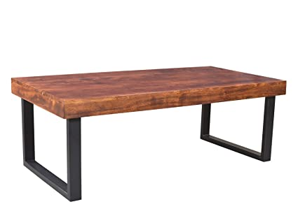 Woodkings® Couchtisch Ettrick 116x57cm, Holz Akazie braun, Echtholz modern, Design, Massivholz exklusiv, design lounge coffee table gunstig