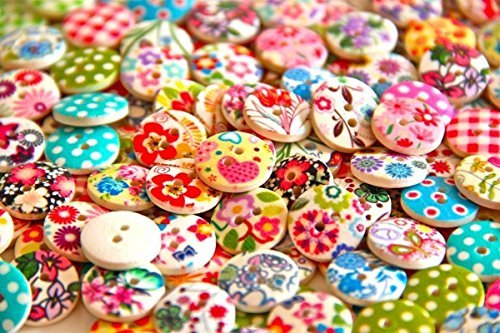 Pack of 50g Over 100 PCS - Mixed Colours of Various Shaped Mixed Buttons for Sewing and Crafting (Buttons For Sewing And Crafting compare prices)