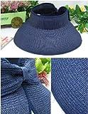 LEPRECHAUN/つば広/麦わら帽/UVカット/サンバイザー/巻きコンパクト収納