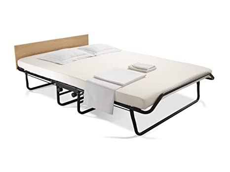 JAY-BE Impression Double Folding Bed with Memory Foam Mattress, Auto Legs, Headboard and Castors