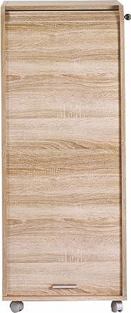 Simmob ORGA110CNB Gran cassa Mobile da ufficio in legno di rovere naturale, 47 x 47,2 x 107,6 cm