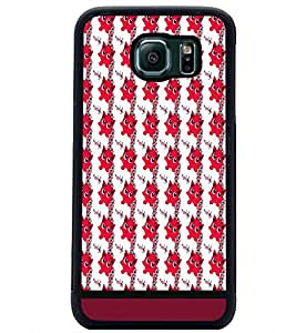 PrintDhaba Cartoon Pattern D-1740 Back Case Cover for SAMSUNG GALAXY S6 (Multi-Coloured)