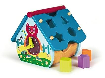 Oops - 16003.20 - Jouet De Premier Age - Maison D'activités En Bois - The Happy House - Ville