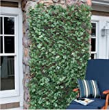 Windscreen4less® Expandable Stretchable Artificial Leaf Leaves Faux Ivy Privacy Fence Screen Decor Panel Cover