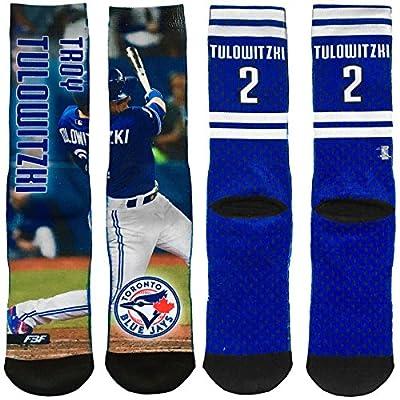 Toronto Blue Jays Troy Tulowitzki Player Photo Fieldstripe Crew Socks