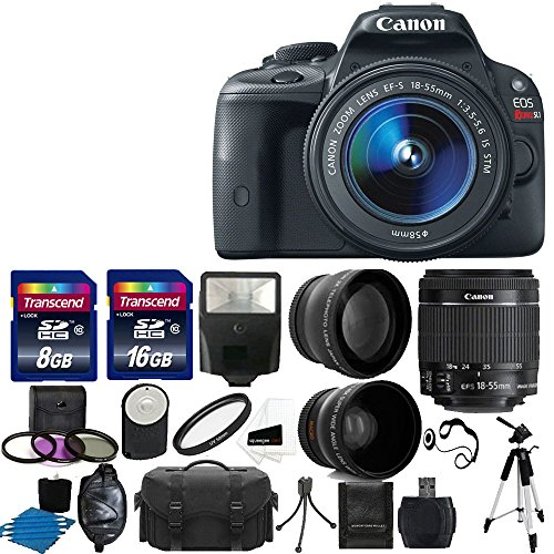 Cheapest Price! Canon EOS Rebel SL1 18.0 MP CMOS Digital SLR Full HD 1080 Video Body with EF-S 18-55...