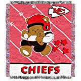 NFL Kansas City Chiefs Woven Jacquard Baby Throw Blanket at Amazon.com