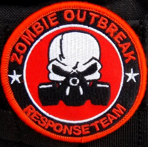 Zombie Outbreak Response Team Gas Mask Patch