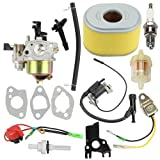 HONEYRAIN 16100-ZH8-W61 Carburetor for Honda GX140 GX160 GX168 GX200 5HP 5.5HP 6.5HP Engine Replace 16100-ZH8-W51 16100-ZE1-814 16100-ZE1-825 Kit with Air Filter Ignition Coil
