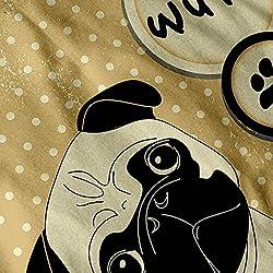 Little Pug Dog Paw Polka Dot Women Black Hoodie S-2XL   Wellcoda