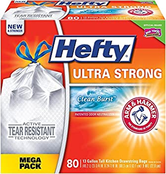 Hefty Kitchen Drawstring 80-Ct. Trash Bags