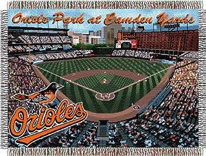 MLB Stadium Tapestry Throw MLB Team: Baltimore Orioles - Camden Yards Stadium by Northwest Enterprises