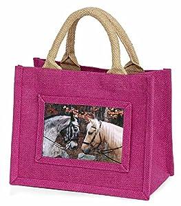 Horses in Love Little Girls Pink Shopping Bag