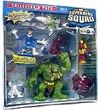 Marvel Superhero Squad 6 Piece Mini Figure Collector's Pack (Falcon, Emma Frost, Iron Man, Spider-Man, Mr. Fantastic and Hulk)
