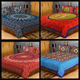 SHILPIIMPEX COMBO OF Cotton Double Bedsheet (With Pillow Covers)