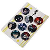 Bowinr 9pcs Japanese Anime Brooches & Pins, 1.4 inch Super Kawaii Brooch Pins for Clothes, Bags, Caps and Pencil Cases( Black Butler) (Color: Black Butler, Tamaño: Normal)