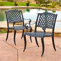 Spectacular Buy Marietta Outdoor Cast Aluminum Dining Chairs Set of