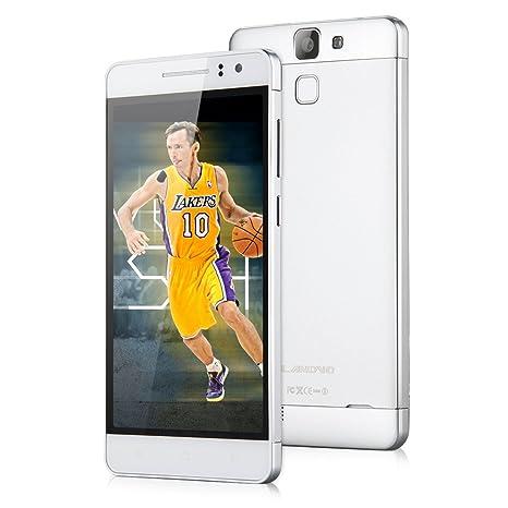 LANDVO L600S 3G/4G LTE Smartphone 5,0 Pouce IPS HD Ecran 8Go ROM Quad Core MTK6732 Android 4.4 Kitkat Dual SIM 8MP et 5MP caméra soutenir Smart Wake WIFI GPS Bluetooth OTG fonction compatible orange SFR Bouygues Virgin Free Dommel Mobistar Proximus