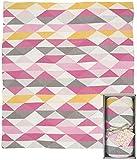 Weegoamigo Knitted Blanket- Geo Pink