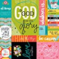 Illustrated Faith Whatever is Lovely Art Prints Scrapbook Paper