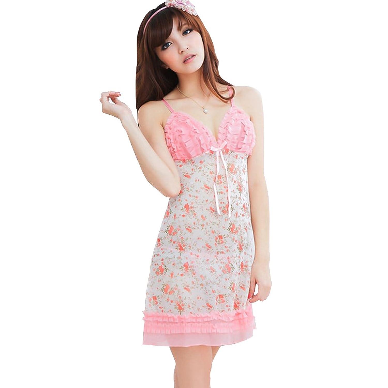 Deercon Frauen-transparente W?sche-Kleid-Nachtw?sche Babydoll Sleepwear + G-string Set (pink) bestellen