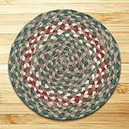 Round Burgundy Braided Rug (5.75\'x5.75\')