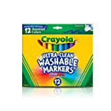 Crayola 12 Ct Ultra-Clean Washable Markers (Color: Multi Colored, Tamaño: Marker)