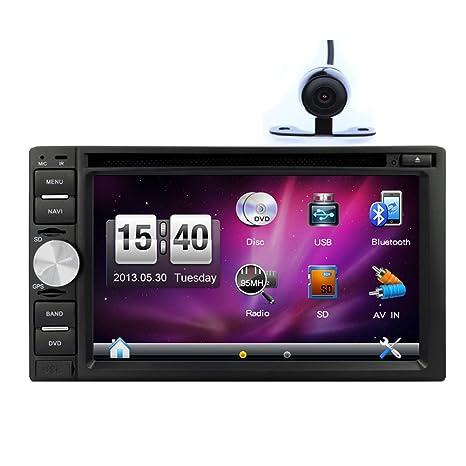 USB / SD nueva llegada En Dash CD de navegaciš®n del coche Lecteur DVD con pantalla coche GPS Lecteur DVD tš¢ctil numšŠriques de Radio Auto 6.2 pulgadas con el transmisor de la Cš¢mara del trasera subwoofer