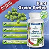 Pure Green Coffee Bean Extract with 50% CGA - 800 mg/capsule - 1600 mg per Serving (only 2 capsules/day)- 120 Capsules
