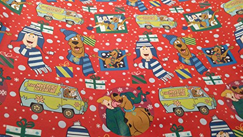 [Christmas Wrapping Scooby Doo Mystery Machine Holiday Paper Gift Greetings 1 Roll Design Festive Wrap] (Scooby Doo Homemade Costume)