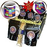 Anne Marie Baugh - Geometric Shapes - Aqua, Lime Green, Orange, Pink, Blue Slanted Squares - Coffee Gift Baskets - Coffee Gift Basket (cgb_213746_1)