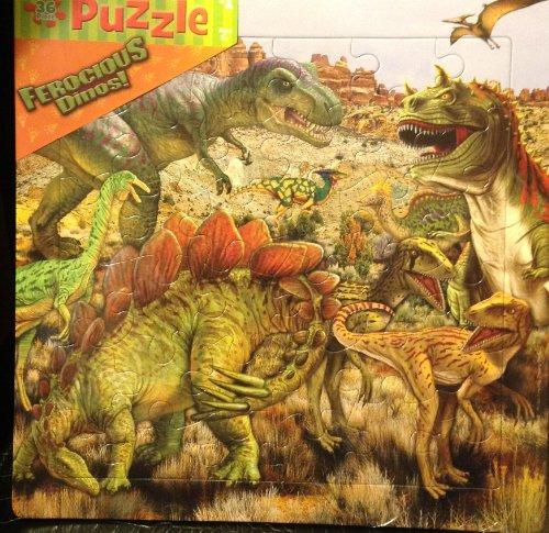 Delightful 36 Piece Childrens Puzzle Ferocious Dinos Dinosaurs