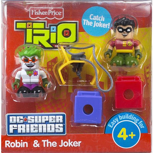Fisher Price Trio Building System DC Super Friends Figure Robin Joker - 1
