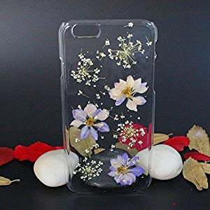 Beautiful Real Flowers Clear Slim Unique Design Phone Case for iPhone 6(8)