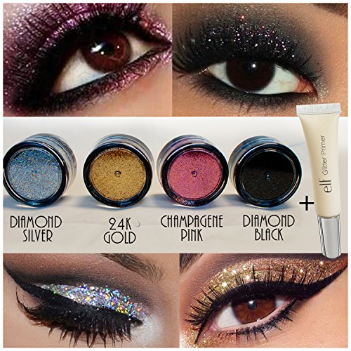 Buy 4pc GlitterWarehouse Loose Glitter Powder for Eyeshadow Body ...