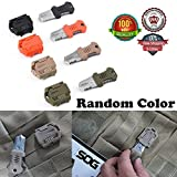 Ezyoutdoor® Mini Knife Camping Hand Tools Holder Knife Webbing Buckle Folding Multi-functions for Household bottle opener fruit Knife Sports Outdoor Self-Defense Tool(random color) straight edge knife