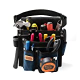 Heavy Duty Technician and Electrician's Waist Tool Bag with Multiple Pockets, Tool Organizer, EVA with Suede Lamination, Heavy Duty and Super Strong Construction, 1.5 inch Adjustable Nylon Waist Belt (Color: Blue, Tamaño: 1 Bag)