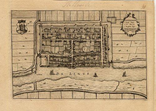 theprintscollector-antique-plan-leerdam-netherlands-blaeu-1649