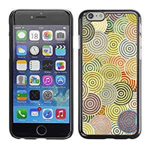 Omega Covers - Snap on Hard Back Case Cover Shell FOR Iphone 6/6S (4.7 INCH) - Abstract Crocheted Pattern Hypnotic