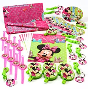 Hallmark 221982 Disney Minnie Mouse Bow-tique Party Favor Value Pack from BUY SEASONS