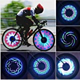Crazy Shopping Cycling Bike Bicycle Wheel Tire Valve Spoke 16 LED Flash Light Lamp 32 Changes