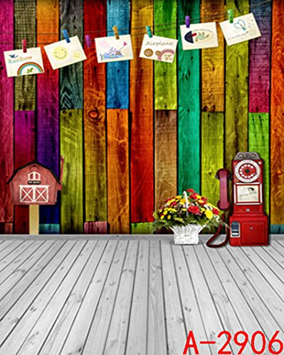 Colored Wood Child Baby 3d Backgrounds Indoor Backdrop Cloth Studio Photography 2015 200 Cm * 150 Cm K-2906