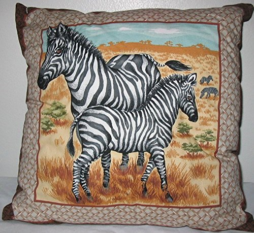 Zebra Throw Pillow #4013
