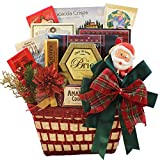 Yuletide Wishes Christmas Holiday Gift Basket with Smoked Salmon