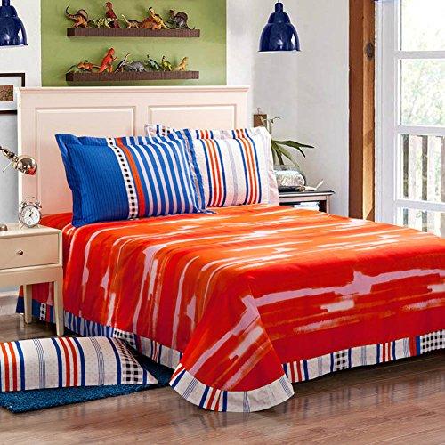 Qzzielife 100 Cotton 4pc Bedding Duvet Cover Sets Orange
