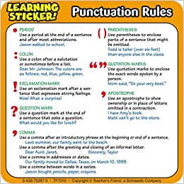 Punctuation Rules Learning Stickers Scholastic