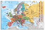 Europe Map With Flags Wall Chart Post...