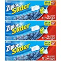 3Pk Ziploc Slider Quart Storage Bags
