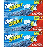 3-Pack Ziploc Slider Quart Storage Bags Value Pack 42-Count