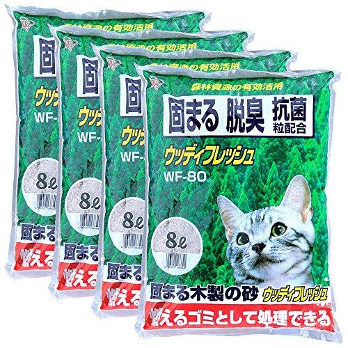 アイリスオーヤマ ウッディフレッシュ 猫砂 8L×4袋 WF-80